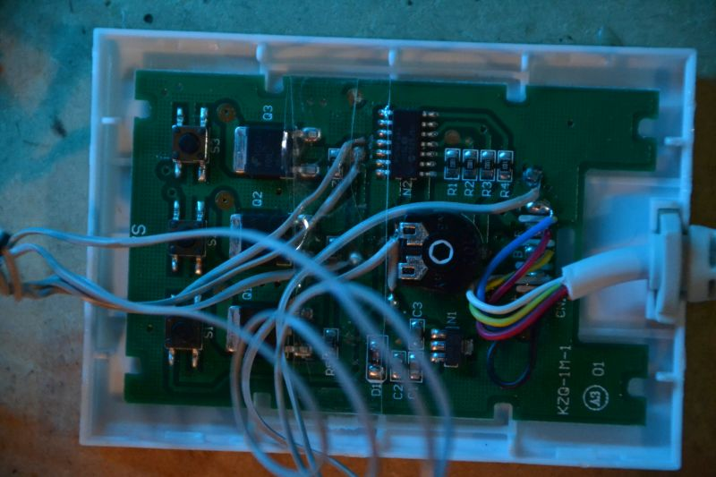 Hacked Ikea Dioder guts